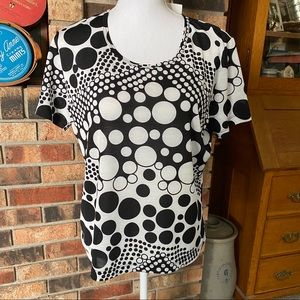 Lilly of California Top PL. NWT Polka Dot